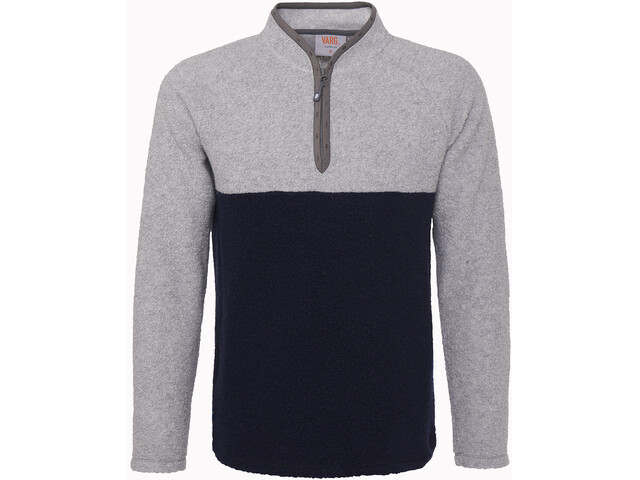 Varg Dragö Wollen Jersey Heren, gravel grey/navy blue